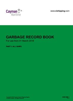 Cover of Garbage Record Book Part 1