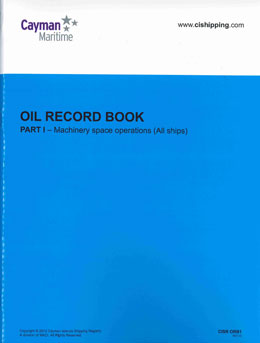 Cover of Oil Record Book Part 1 (Machinery Space Operations)