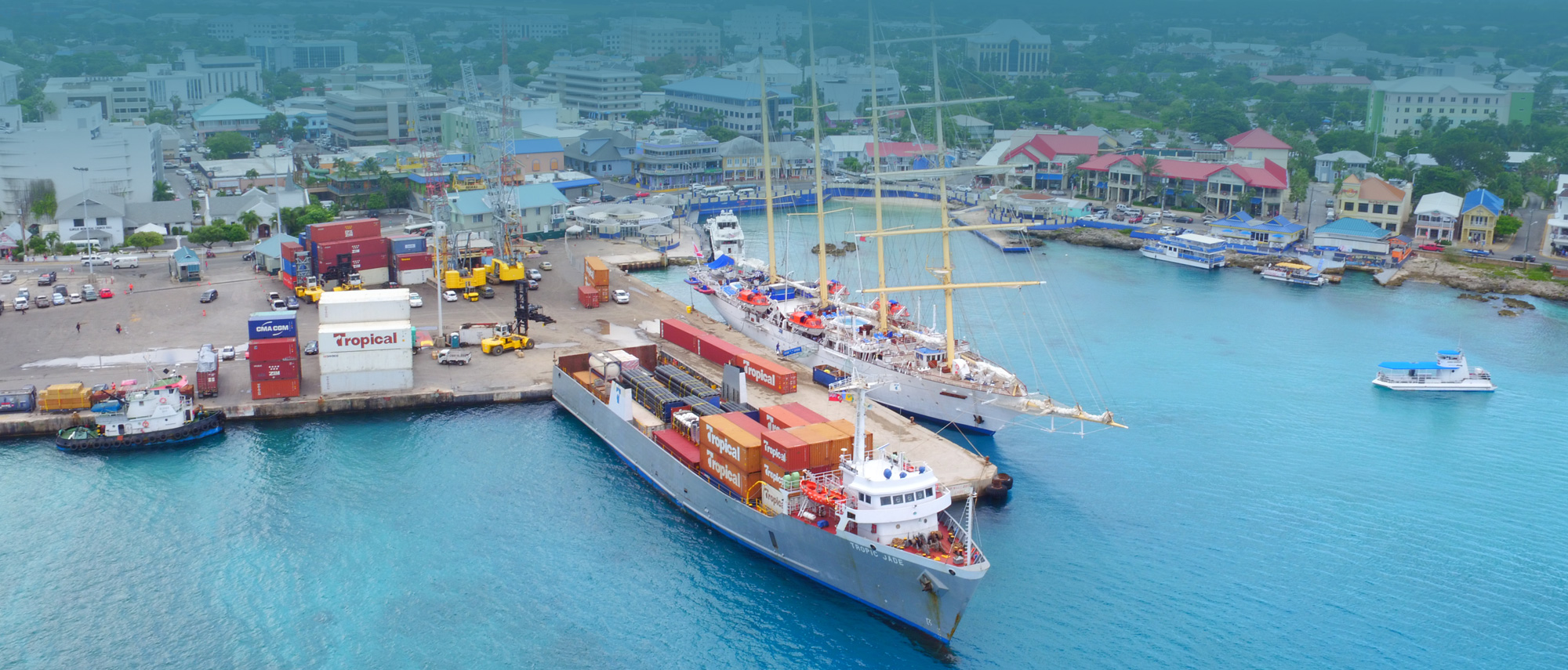 Port of George Town Arial View, Cayman Islands