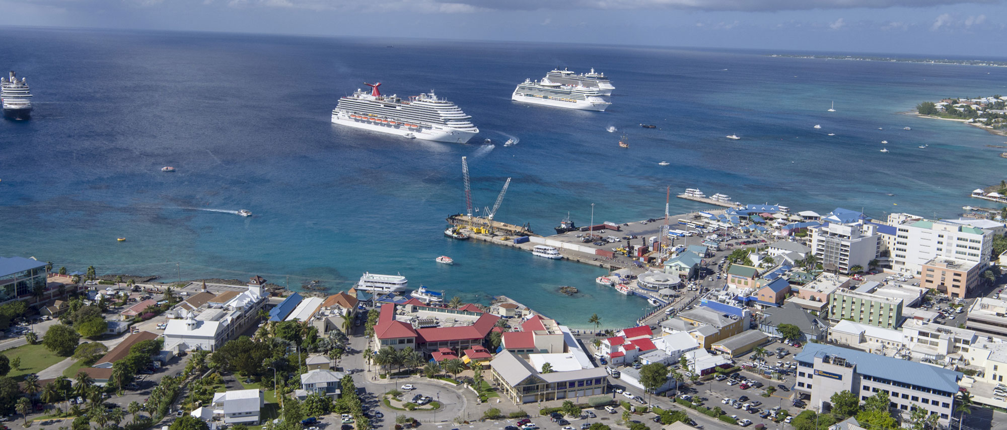 Cruise Ships in the port of George Town, Cayman Islands