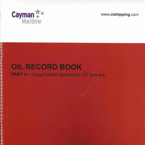 Cover of Oil Record Book Part 2 (Oil Tankers)